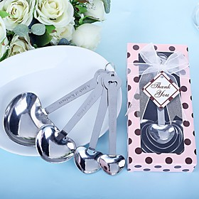 """""Love Beyond Measure"""" Heart Shaped Measuring Spoons Wedding Favor"" 5093694"