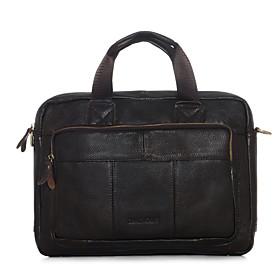 Herren Kuhfell Formell \/ Alltag \/ Buro Karriere \/ Einkauf Laptop Tasche Braun \/ Schwarz