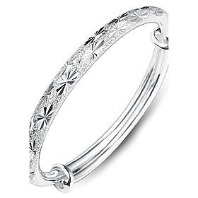 Women's Bracelet Bangles Sterling Silver Heart Love Ladies Fashion Bracelet Jewelry Silver For