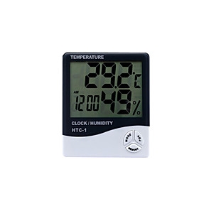 Digital Thermometer Htc-1 Indoor And Outdoor Electronic Hygrometer Electronic Clock Hygrometer