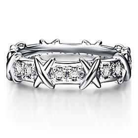 Brand 1:1 Copy Genuine Quality Across Style Wedding Band Ring for Women Ster..