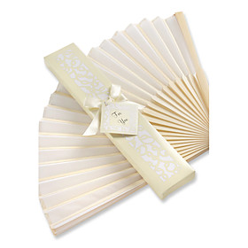 Beter GiftsRecipient Gifts - 1Piece/Set, Bachelorette Silk Hand Fan in White Giftbox, Ladies Night Out Essentials