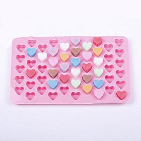 55 Holes Silicone Chocolate Ice Mold Heart Shape Silicone Cake Mould 5199543
