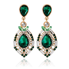 1pair/green Stud EarringsforWomen