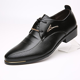 Men's Formal Shoes Cowhide Spring / Fall Business Oxfords Black / Brown