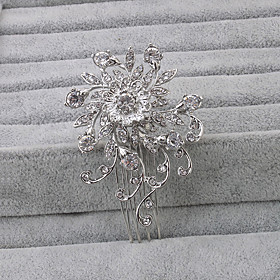 Women's Rhinestone Headpiece-Wedding Special Occasion Office  Career Hair Combs 1 Piece