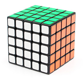 Shengshou Smooth Speed Cube 555 Speed / Professional Level Magic Cube Black Smooth Sticker Adjustable spring ABS