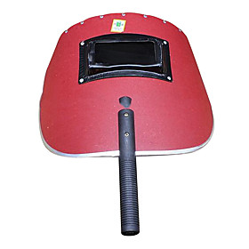 Handheld  Holding A Red Welding Mask Anti-Radiation Splash 320 Labour Protection Protective Glasses
