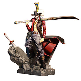 Anime Action Figures Inspired by One Piece Dracula Mihawk PVC(PolyVinyl Chloride) 15 cm CM Model Toys Doll Toy 4890920