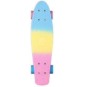22 Inch Cruisers Skateboard Professional PP (Polypropylene) Abec-7-BluePink Rainbow