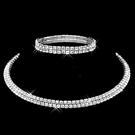 Sieraden Kettingen \/ Armband Ketting \/ armband \/ Bruidssieradensets Modieus \/ Inspirerend Bruiloft \/ Feest \/ Dagelijks \/ Causaal 1 Set