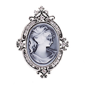 Women's Fashion Diamante Crystal Antique Silver Vintage Brooch Pins Jewelry ..
