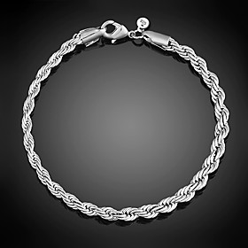 Women's S925 Sterling Silver Chain Bracelet for Wedding Party Casual Bracelet Jewelry Gift