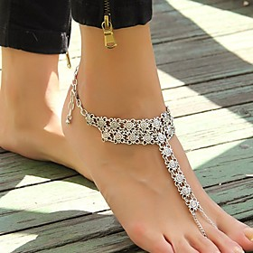 Women's Anklet/Bracelet Gold Plated Alloy Unique Design Sexy European Fashion Simple Style Vintage Punk Jewelry Silver Women's Jewelry For 5209250