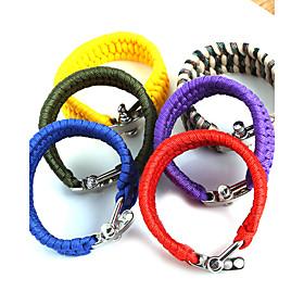Image of Beadia 1Pc Whistle Life-saving Bracelet Survival ParaCord Bracelet Christmas Gifts