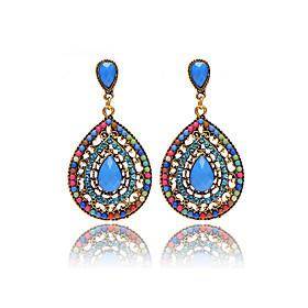 Hot Sale Brand Design Bohemian Water Drop Earrings Vintage Fashion Dangle Earrings For Women Accessories