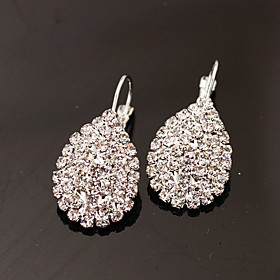 Women's Stud Earrings Drop Earrings - Rhinestone, Imitation Diamond Drop Luxury, Fashion Silver For Party Daily Work