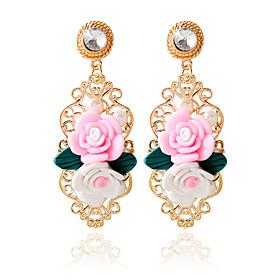 1pair/pink Stud Earrings forWomen 5184797