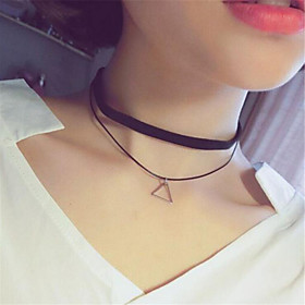 Necklace Choker Necklaces / Pendant Necklaces Jewelry Daily / Casual Round / Square / Star / Triangle ShapeAdjustable / Double-layer /