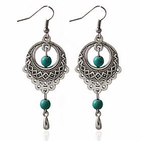 1pair/green Hoop Earrings for women