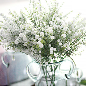 Hi-Q 1Pc Decorative  Real Touch Babysbreath Flower Wedding Home Table Decoration Artificial Flowers