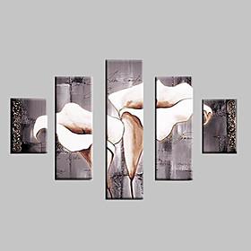 Ручная роспись Пейзаж / Цветочные мотивы/ботанический Картины маслом,Классика /
