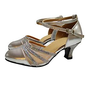 Women's Dance Shoes Belly/Latin/Yoga/Dance Sneakers/Swing Shoes//Samba /Synthetic Cuban Heel Multi color optional