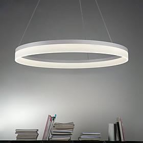 Circle Pendant Light Ambient Light Painted Finishes Metal Acrylic LED 90-240V Warm White / White / Wi-Fi Smart