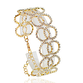 Bracelet Chain Bracelet Alloy Circle Fashion Wedding / Party / Daily / Casual Jewelry Gift Gold / Silver,1pc