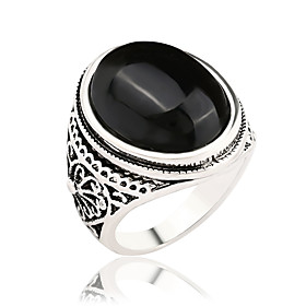 Women's Band Ring / Ring - Stylish, Vintage, Fashion 7 / 8 / 9 Black / Red F..