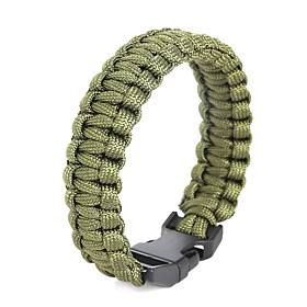 Image of Beadia 1Pc Whistle Life-saving Bracelet Men's ParaCord Bracelet Wristbands