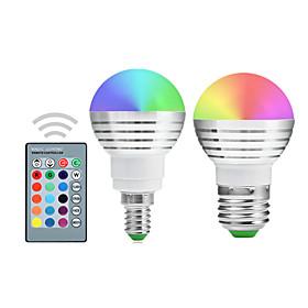 5W E14 / E26/E27 Круглые LED лампы A50 1 Integrate LED 300-450 lm RGB Регулируе