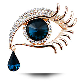 Women's Fashion Vintage Full Of Rhinestone Long Eyelashes Big Eyes Jewelry C..