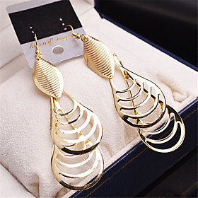 Women's Girls' Party Fashion Gold Plated Alloy Oval Jewelry Wedding Party Casual Costume Jewelry