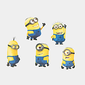 5 Minions Despicable Me Wall Stickers DIY Cartoon Fashion Children's Bedroom Wall Decals 5151318