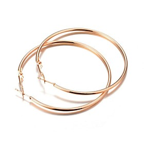 European Style Simple Design Big Gold/Silver Circle Hoop Earrings For Women Party Jewelry Alloy Earrings