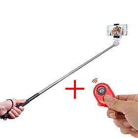2in1 ausziehbaren Hand Selfie Stick Einbeinstativ und Bluetooth-Fernausloser fur iphone \/ ipad und andere (verschiedene Farben)