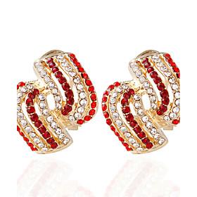 Alloy Ring Stud Earrings Wedding 1pc