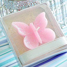 Bridesmaids  /  Bachelorette - Recipient Gifts - Butterfly Tealight Candle Wedding décor, Candle Holder Wedding Favors