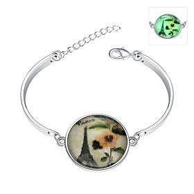 Armbander Armband Glas Party Schmuck Geschenk Silber,1 Stuck