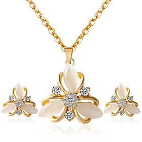 Jewelry Set Women's Anniversary / Wedding / Birthday / Gift / Party / Special Occasion Jewelry Sets Rhinestone Crystal 5181166