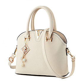 M.Plus Women's Fashion Korean PU Leather Messenger Shoulder Bag/Tote