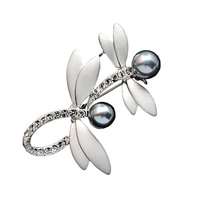 Women's Fashion Accessories Brooch Romantic Crystal Classic Dragonfly Cravat..