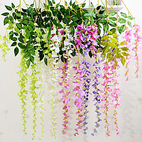 Simulation Silk Violet  Flower Rattan Home Decoration