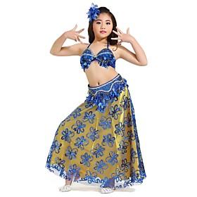 Kids' Dancewear Outfits Children's Performance Chiffon Sequins / Split Front 3 Pieces