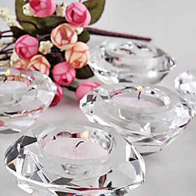 Beter Gifts -1Piece / Set Crystal Diamond Tealight Candle Holder Wedding Décor Party Favors