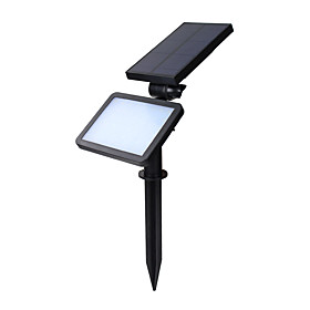 2 in 1 Solar Powered LED Landscape Lighting Waterproof Outdoor Wall Spotlight for Tree Flag Driveway Lawn Pathway