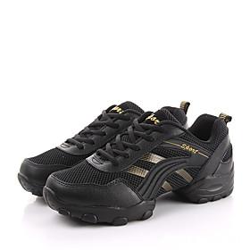 Non Customizable Men's Dance Shoes Leather Leather Dance Sneakers / Sneakers Flat Heel Practice /