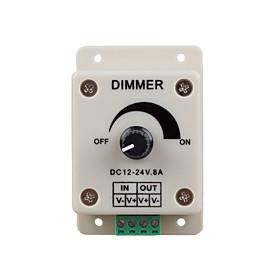 LED Lights Dimmer Switch for Led Strip Light or Led Lamp (DC 12-24V 8A)