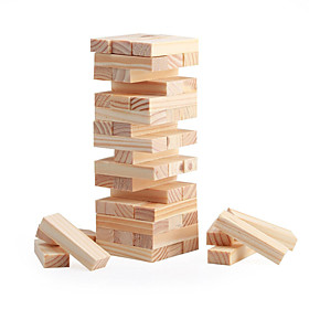 48 Blocks Mini Wood Stacking  Tumble Tower Blocks Game